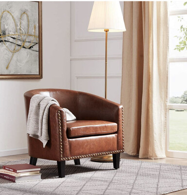 FAUX LEATHER CLUB | CHAIR