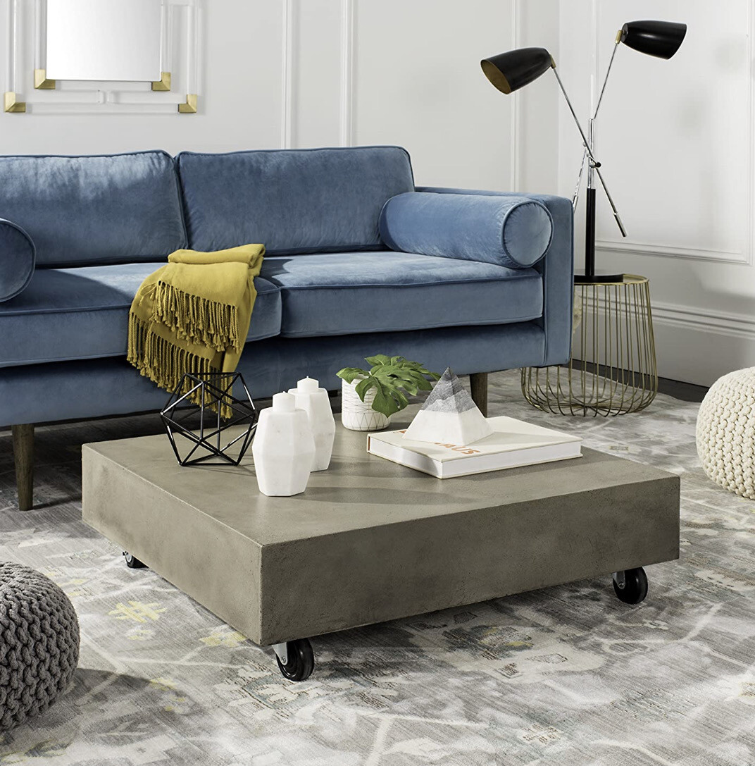 MODERN CONCRETE SQUARE   INDOOR COFFEE TABLE