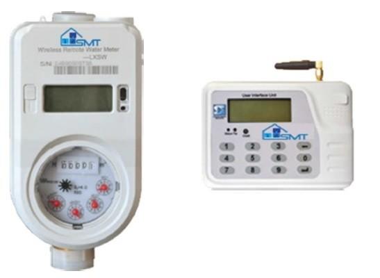 Prepaid Brass Water Meter with separate UIU (User Interface Unit / Keypad)