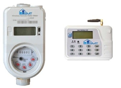 Prepaid Brass Water Meter with separate UIU (User Interface Unit / Keypad)
