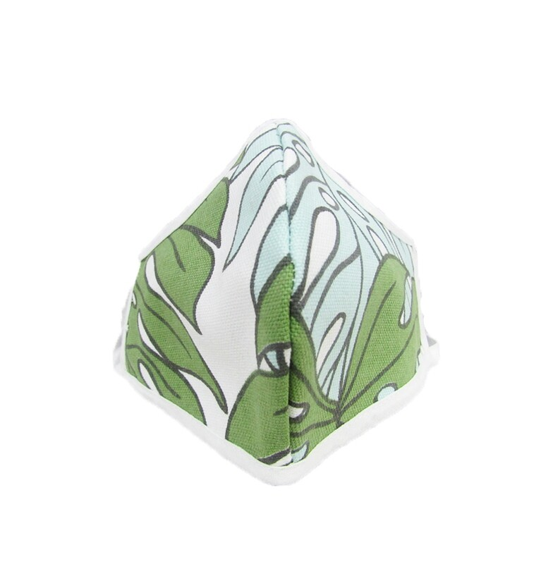 Delicious Monster Protea Blue Shaped Mask