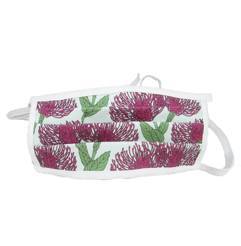Kids Pink Pin Cushion Pleated Mask