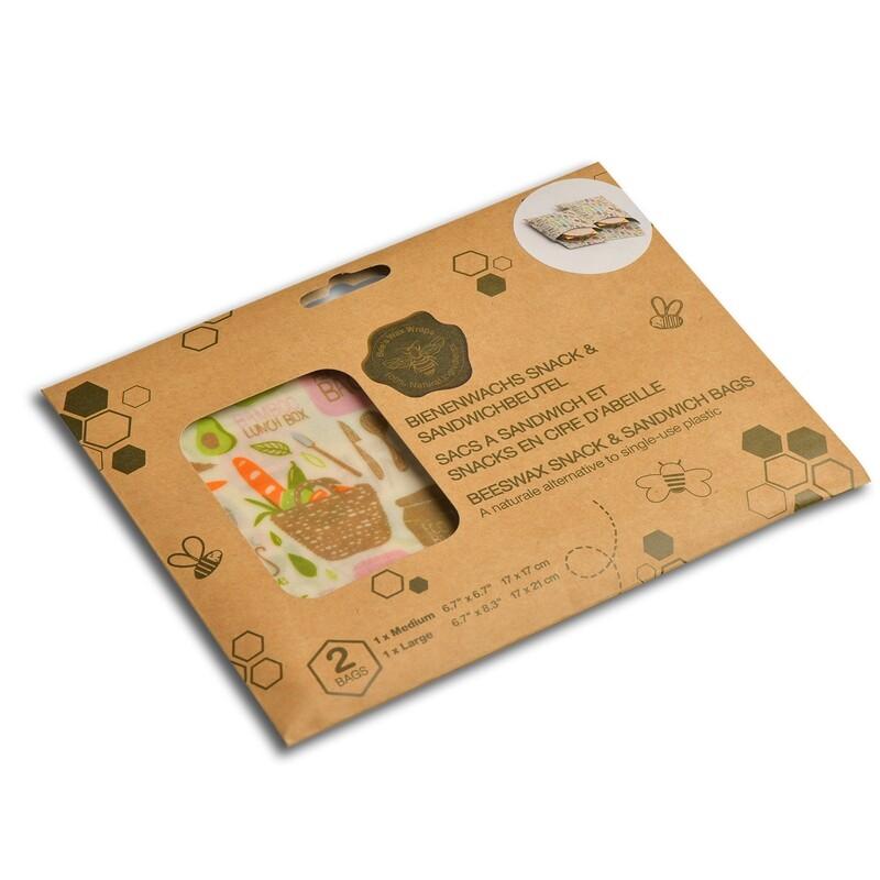 Sandwich & Snack Bag Set 2 pcs Zero Waste