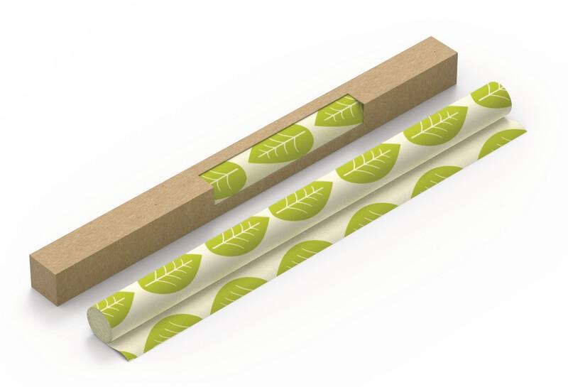 Vegan Roll Green Leaves