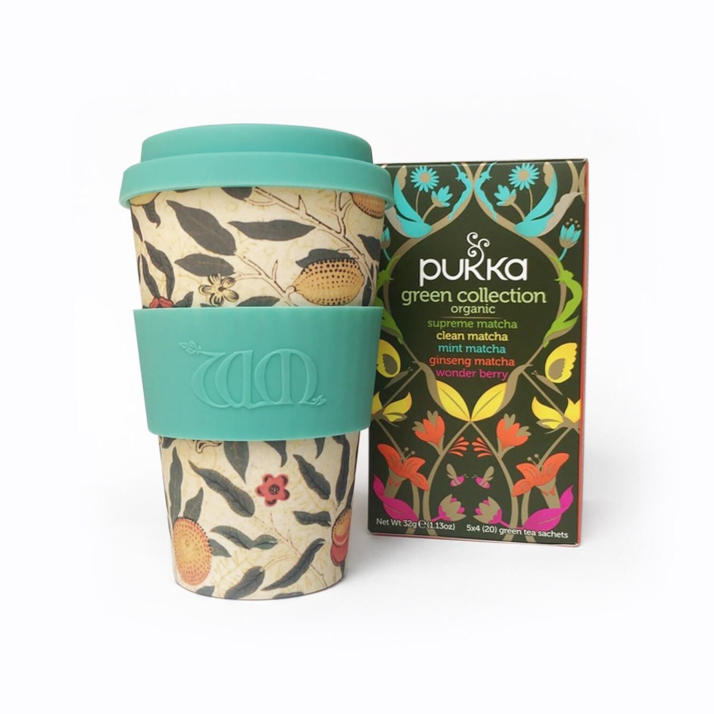 Calm & Collected - Ecoffee Cup & Pukka Green Organic Tea Gift set