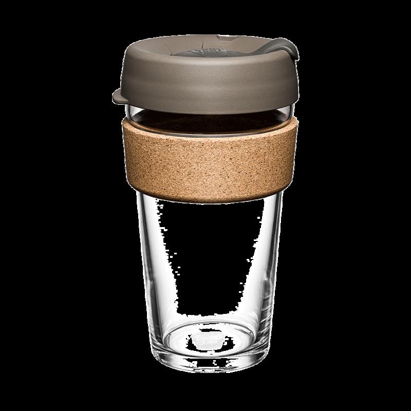 KeepCup Cork Reusable Glass 460ml Latte