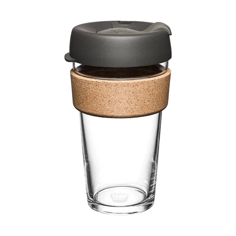 KeepCup Cork Reusable Glass 460ml Nitro