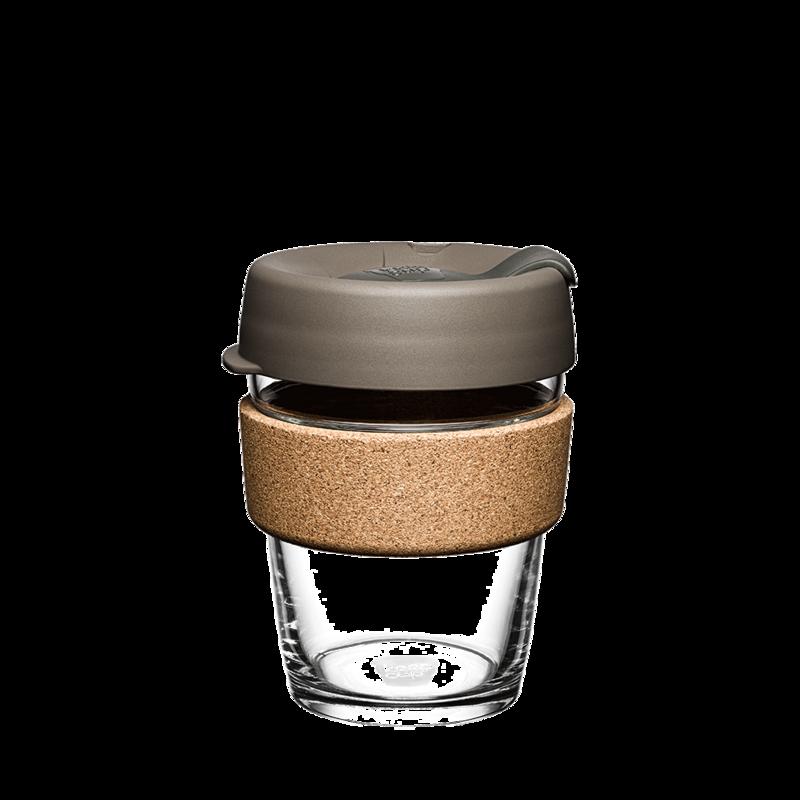 KeepCup Cork Reusable Glass 350ml Latte