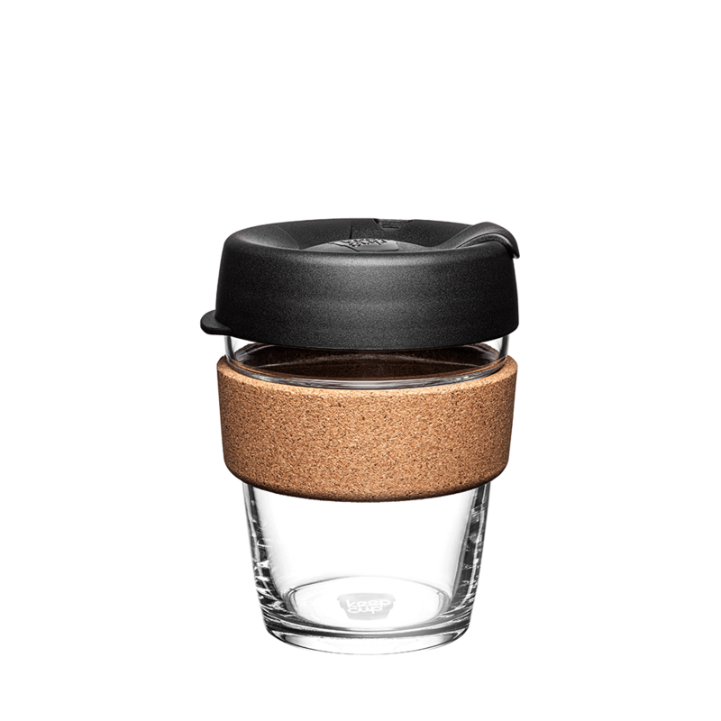 KeepCup Cork Reusable Glass 350ml Black