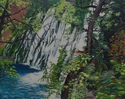 Burney Falls, waterfall in California.