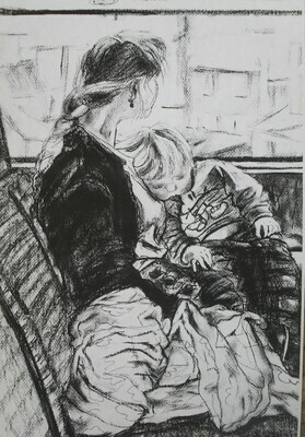 Mother and child on a journey