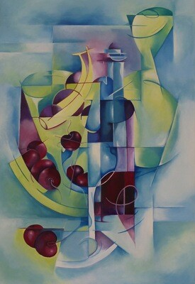 Abstract Wine and Fruit