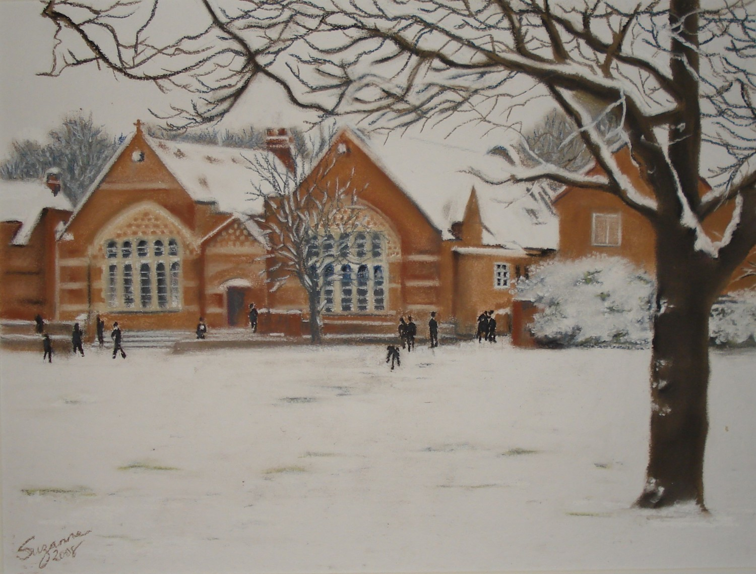 The Rec in the snow.