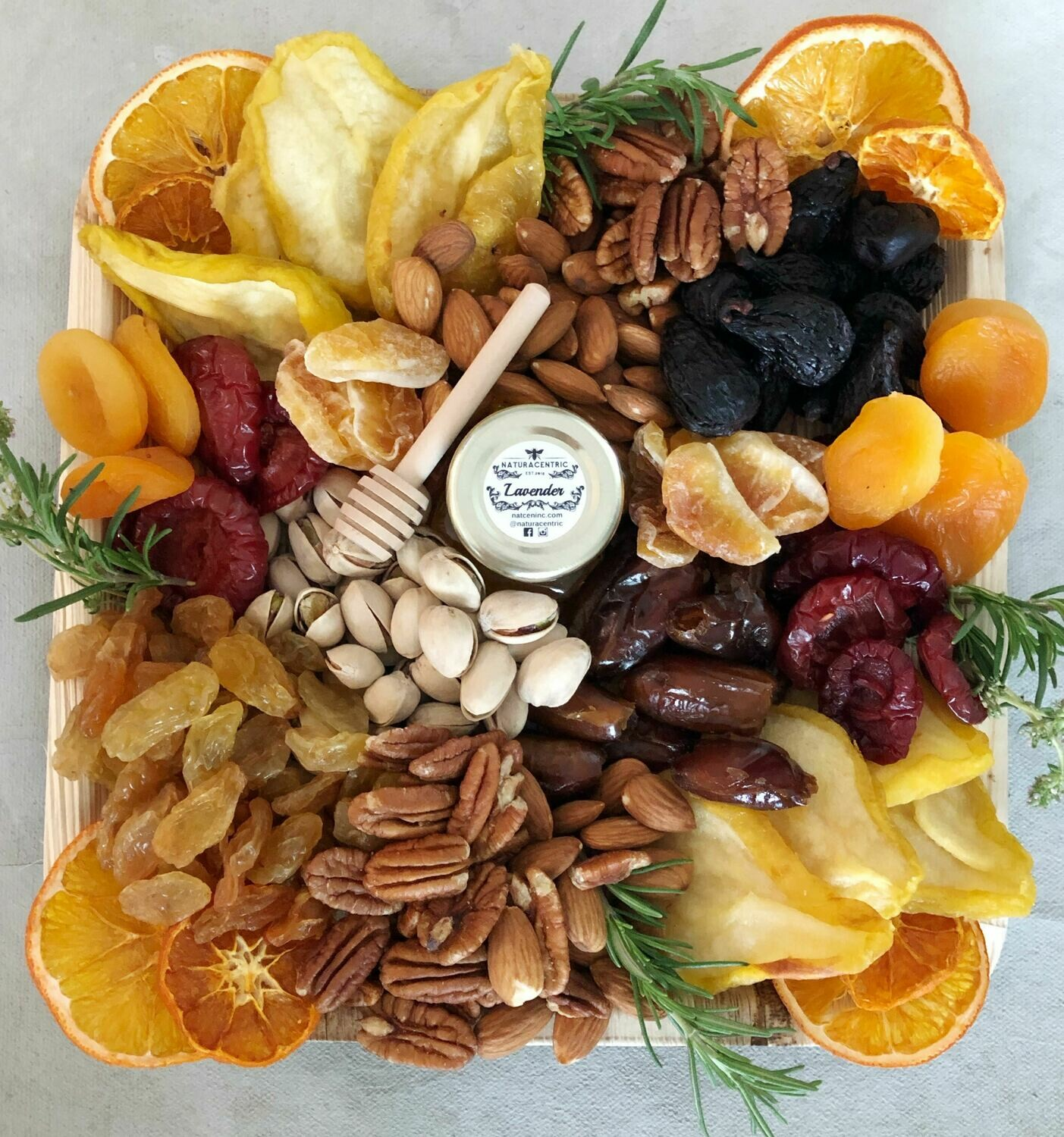 California dried fruit, nut and honey box