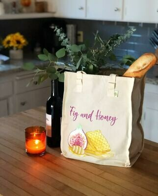 Fig & Honey canvas tote bag