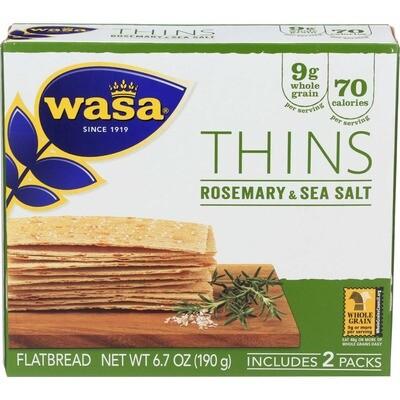 Wasa rosemary & sea salt flatbread crackers 6.7 oz