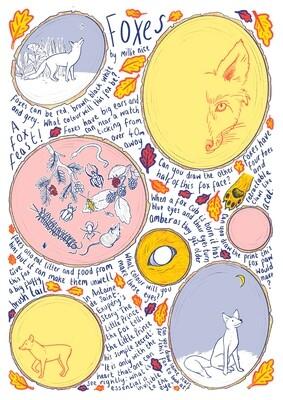 Foxes Children's Activity Sheet