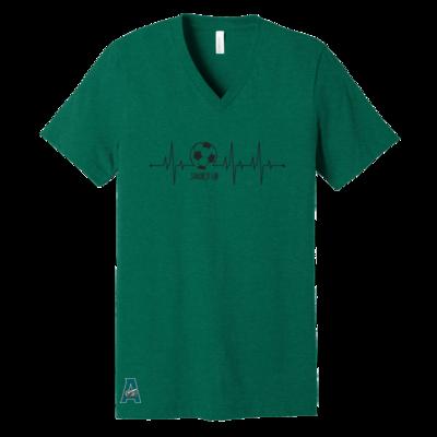 Soccer Ball Heartbeat V-Neck