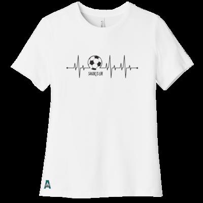 Soccer Heartbeat Women's Tee