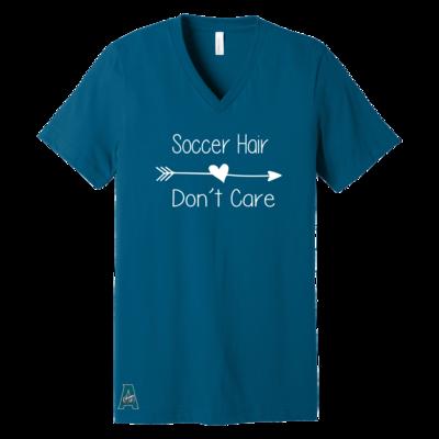 Soccer Hair Don't Care V-Neck