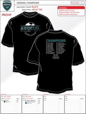 Men's DB Distressed Arsenal Championship T-Shirt