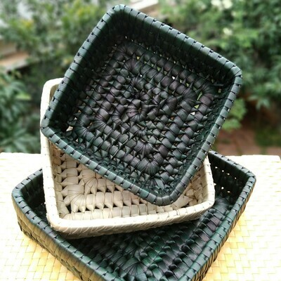 Set of Three Squares [Swamp Green]