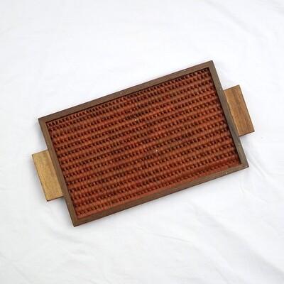 Tray - Vazhaipoo weave [Small Pearl]