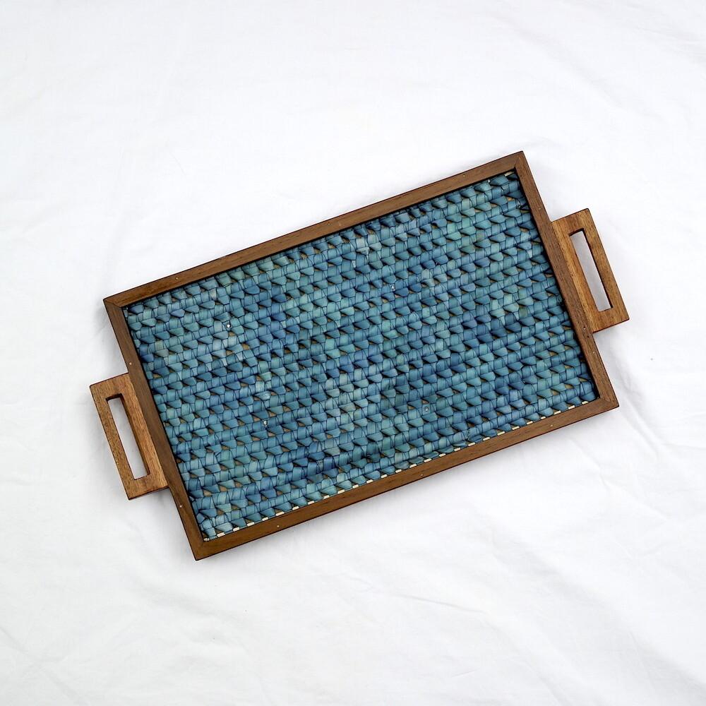 Tray - Vazhaipoo weave [Medium Pearl]