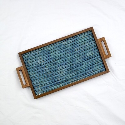 Tray - Vazhaipoo weave [Medium Pearl]