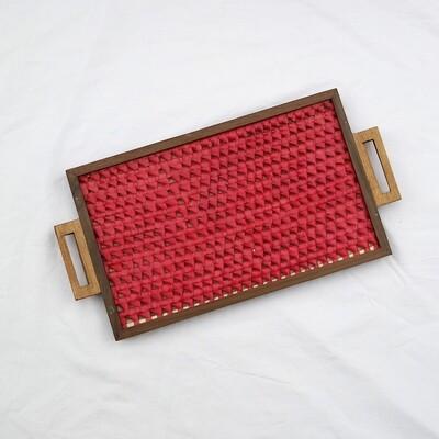 Tray - Vazhaipoo weave [Large Pearl]