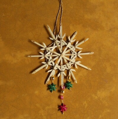 Jewelled Ornament - 1 Snow Flake & 3 Small Stars (Set of 3)
