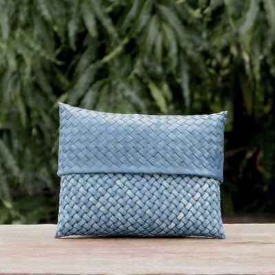 Clutch Bag Large-Double Weave