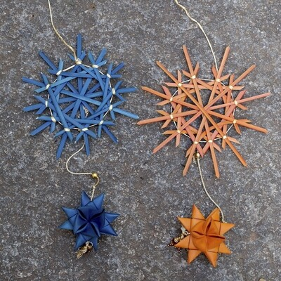 Jewelled Ornament - 1 Snow Flake & 1 Big Star (Set of 3)