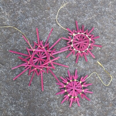 Snowflakes in Pink (Set of 3)