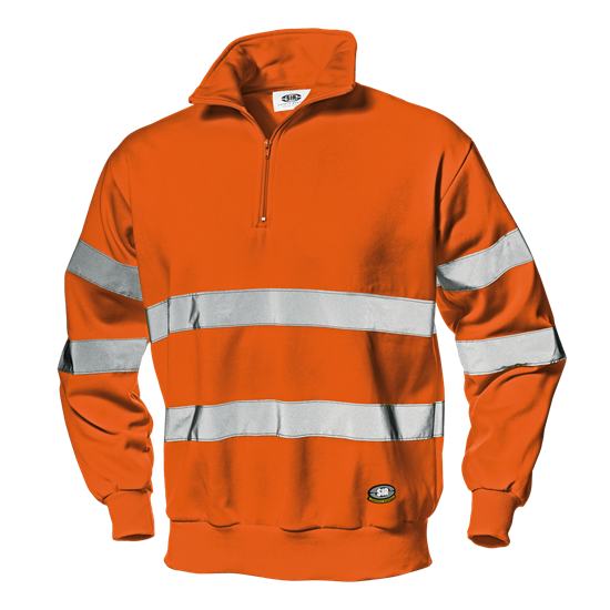 "Warnschutz-Sweatshirt ""Runner"" orange"