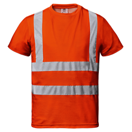 "Warnschutz - T-Shirt ""Mistral"" orange"