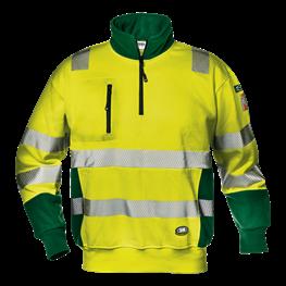 "Warnschutz - Sweatshirt ""Funny"" gelb/grün"