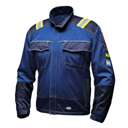 "Jacke ""Polytech Plus""  7kA class 2 blau"