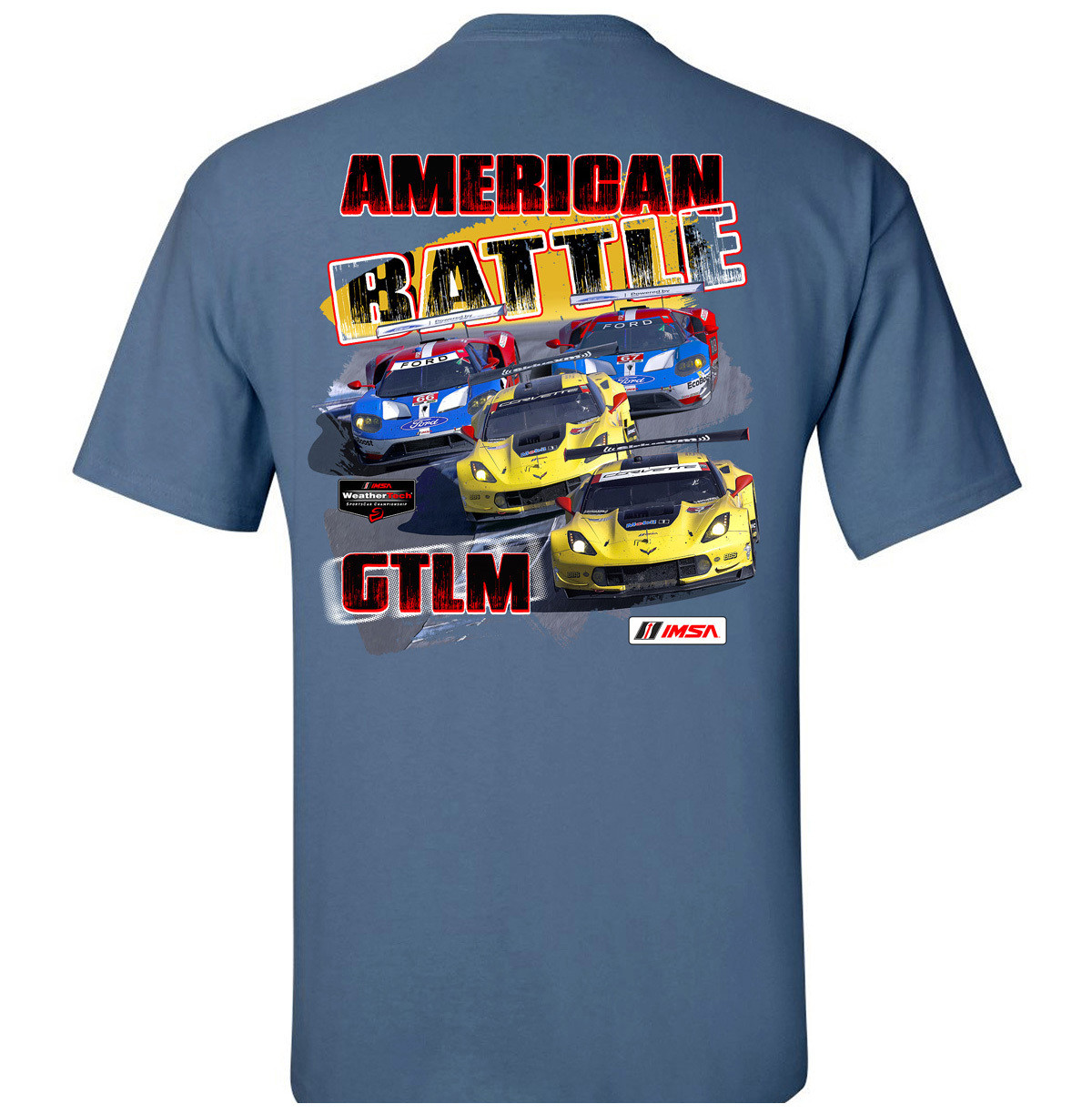 American Battle - Chevy vs. Ford Tee - Heather Indigo