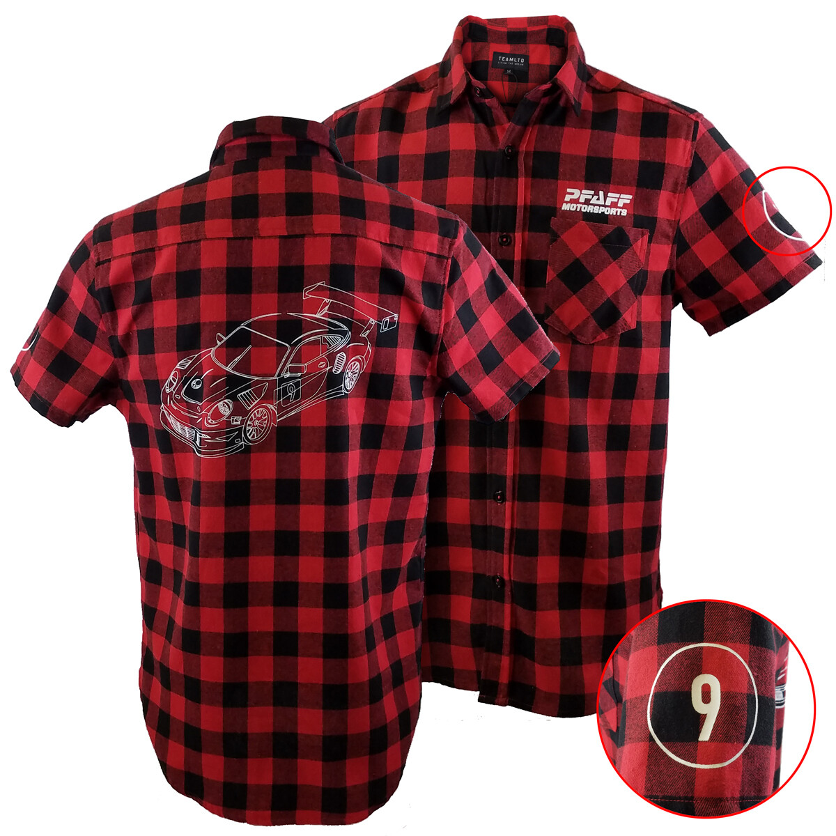 Pfaff Plaid Short Sleeve Flannel
