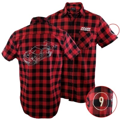 Pfaff Plaid Short Sleeve Flannel