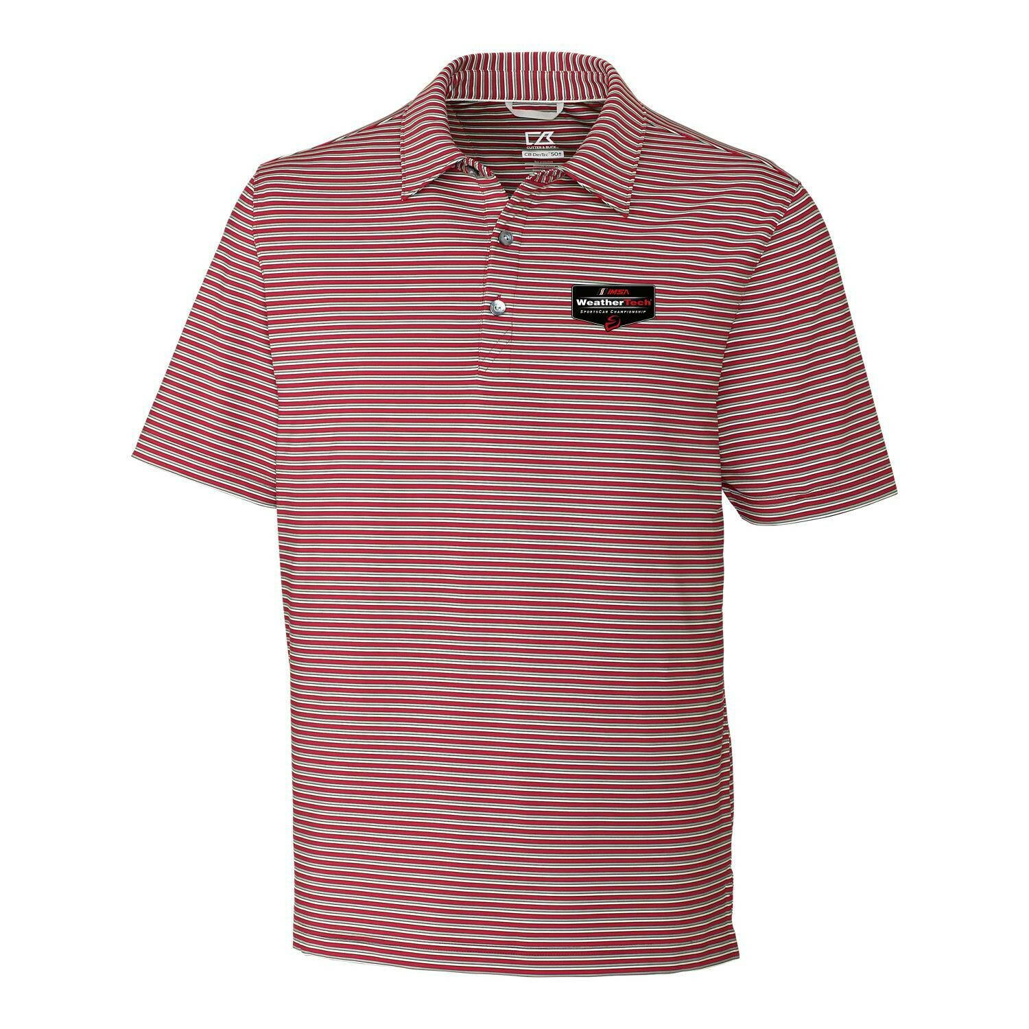 WeatherTech Division Stripe Polo Cardinal Red/Polished