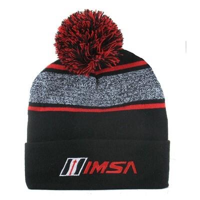 IMSA Knit Cap-Blk/Red/Heather