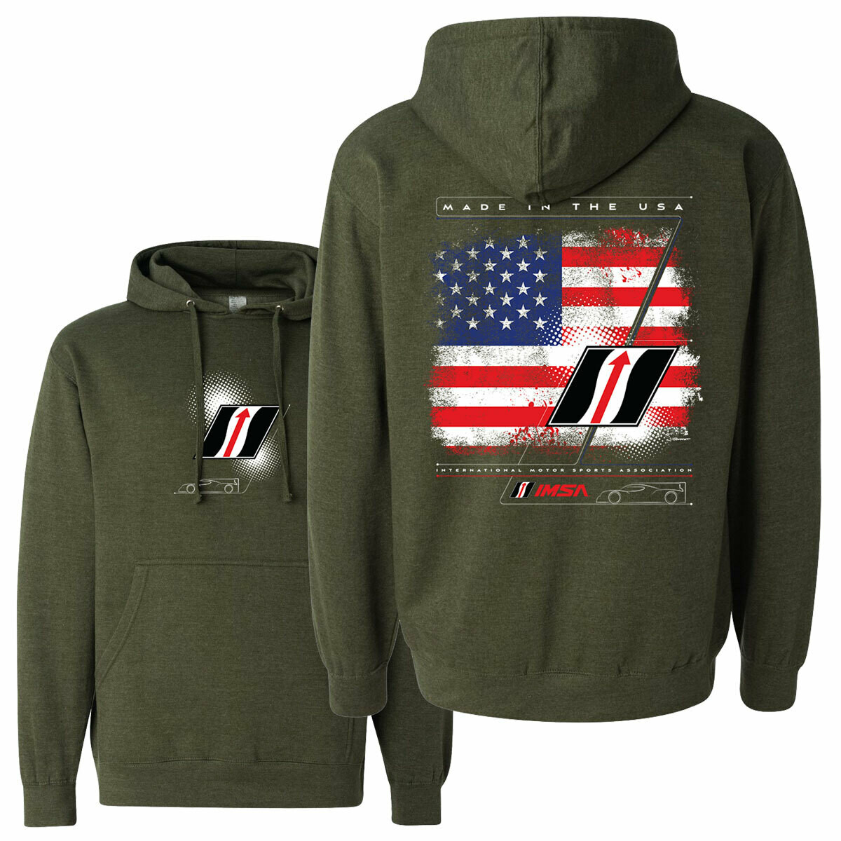 IMSA Flag Hooded SS - Army Grn