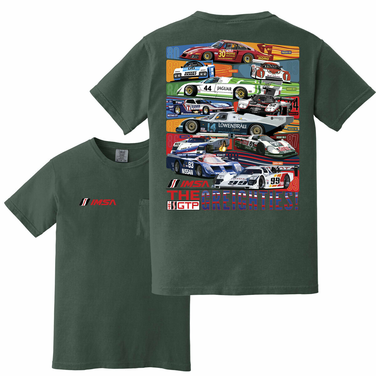 80s Cars Pocket T Blue Spruce