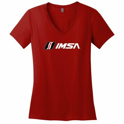 IMSA Ladies V-Neck -Red