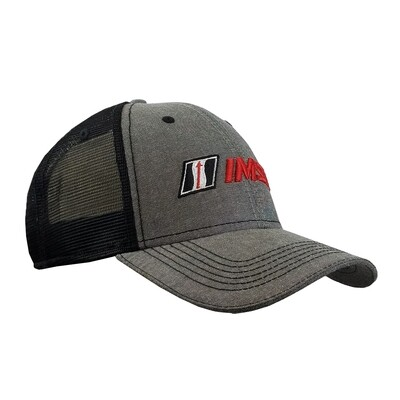 IMSA Chambray Trucker Mesh Hat - Grey/Blk