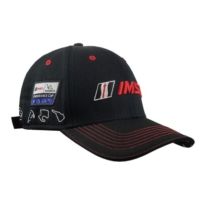 IMSA Track Outline Hat-Black/Red