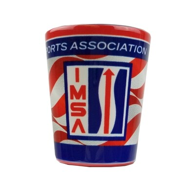 IMSA Vintage Logo Flag Shot Glass