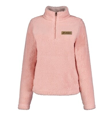 Ladies Sherpa 1/4 Zip Pink